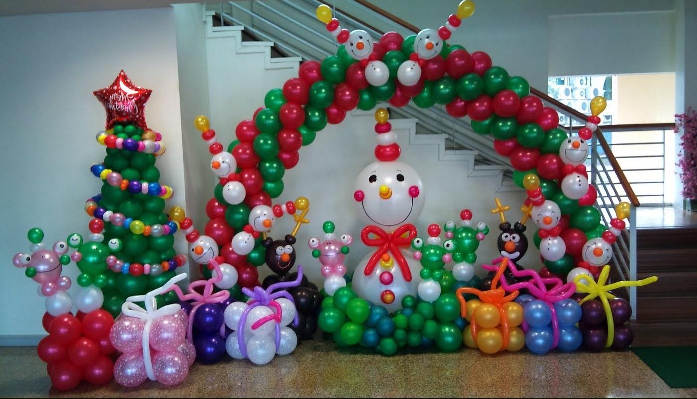 Allestimenti natalizi palloncini