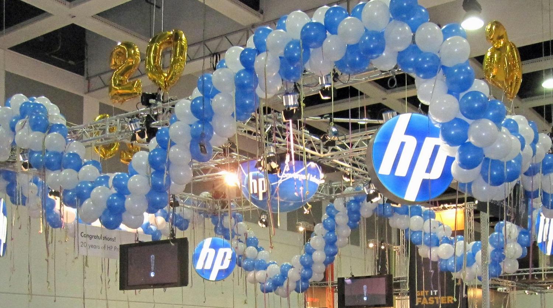 stand pubblicitari con palloncini