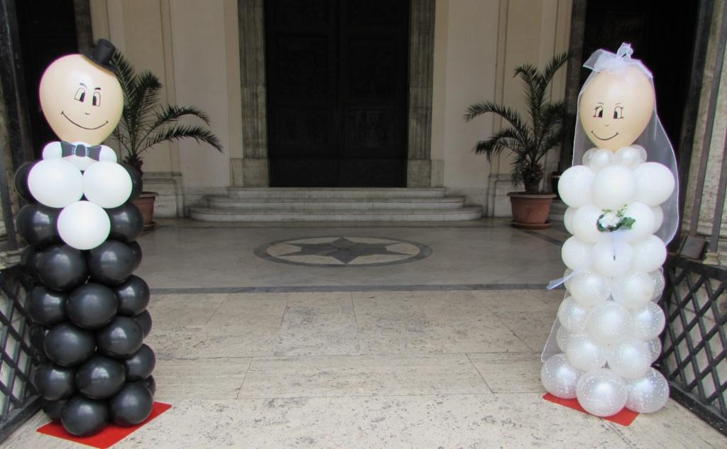 colonne palloncini matrimonio