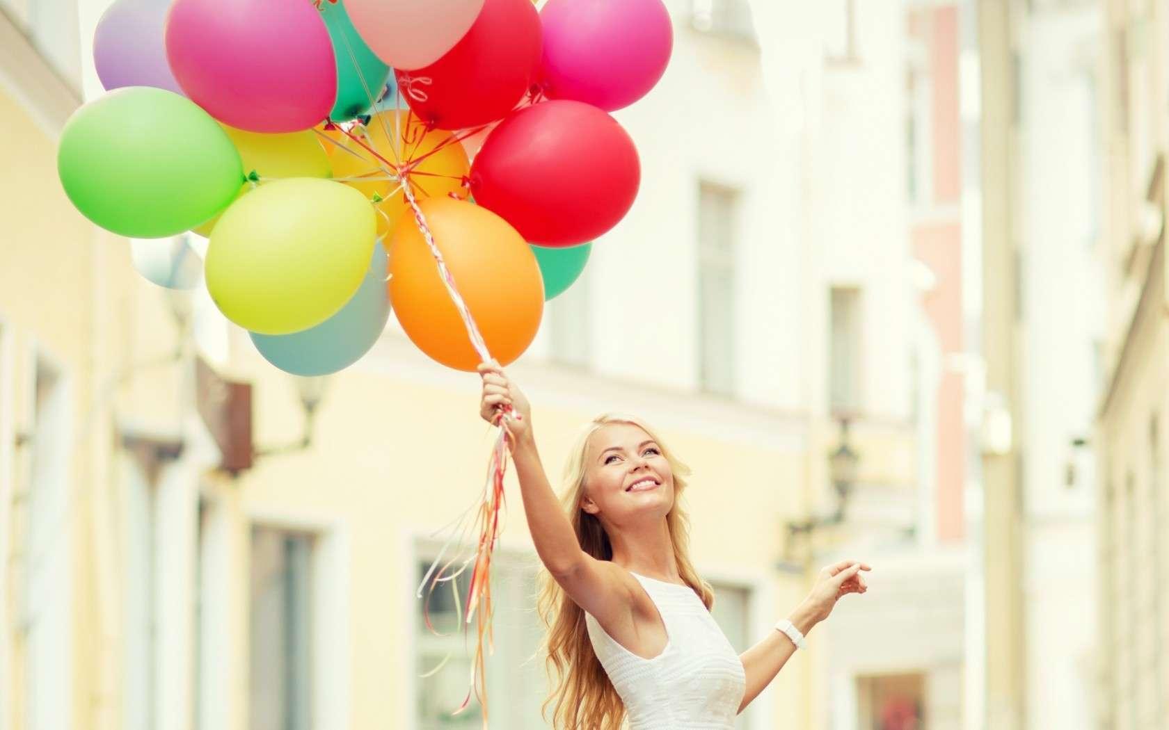 hostess con palloncini