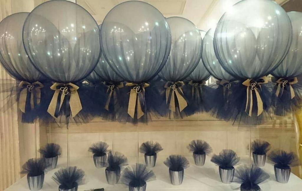Allestimento battesimo con palloncini