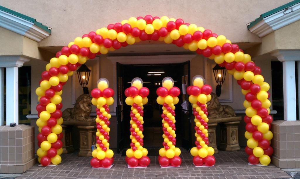 Arco di palloncini battesimo