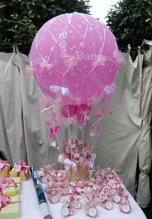 Allestimento battesimo bimbo con palloncini milano