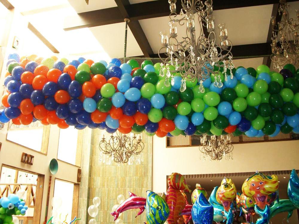Allestimenti cascate palloncini