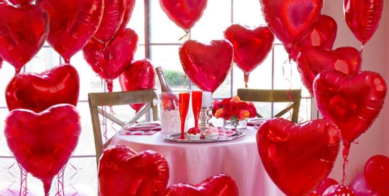 allestimenti san valentino palloncini