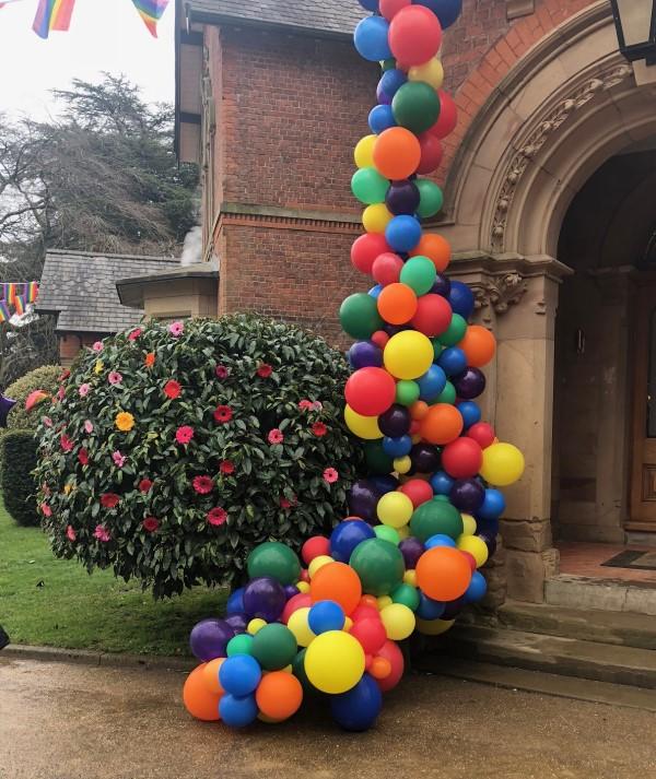 cascate palloncini milano