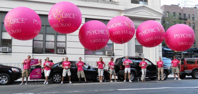 street marketing con palloncini