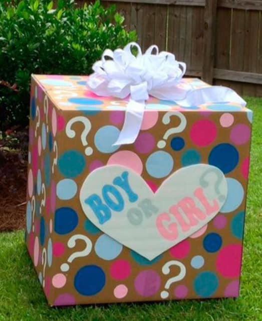 Baby shower brianza, Baby shower idee: scatola sorpresa
