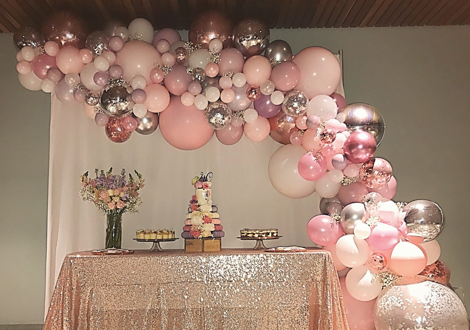 Palloncini per battesimo bimba Cologno Monzese