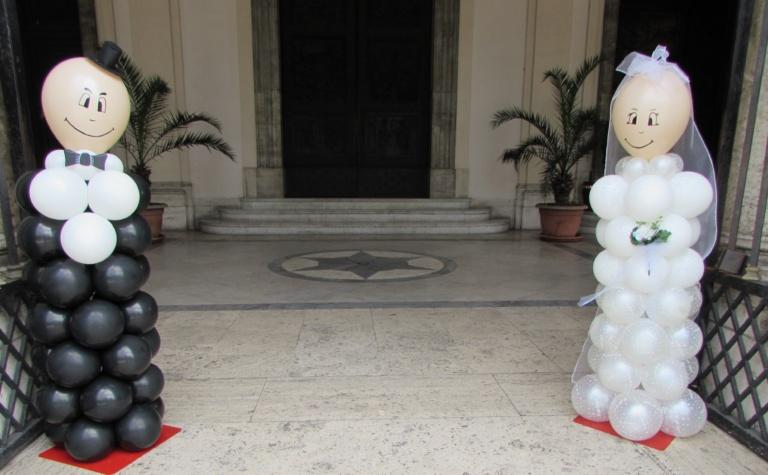 Matrimonio allestimenti palloncini colonna